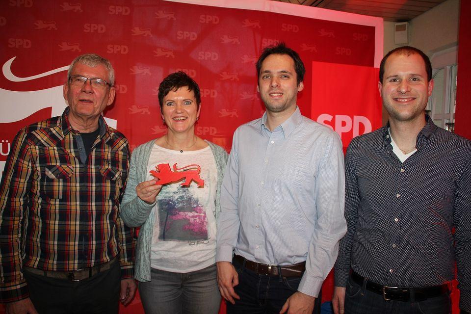 v.l.n.r. Dietrich Dürr, Angelika Huck, Markus Seiler, Simon Huck